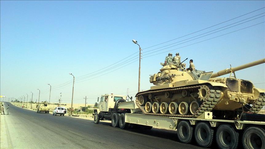 الجيش المصري يعلن مقتل 12