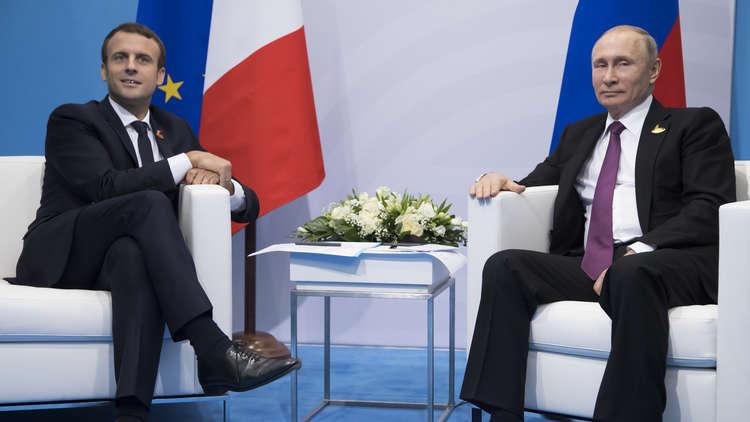 بوتين يبحث مع ماكرون إعادة إعمار سوريا ما بعد الحرب