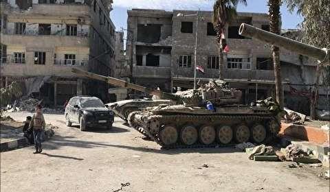 5 آلاف مسلح وعائلاتهم ينسحبون من حرستا إلى إدلب شمال غرب سوريا