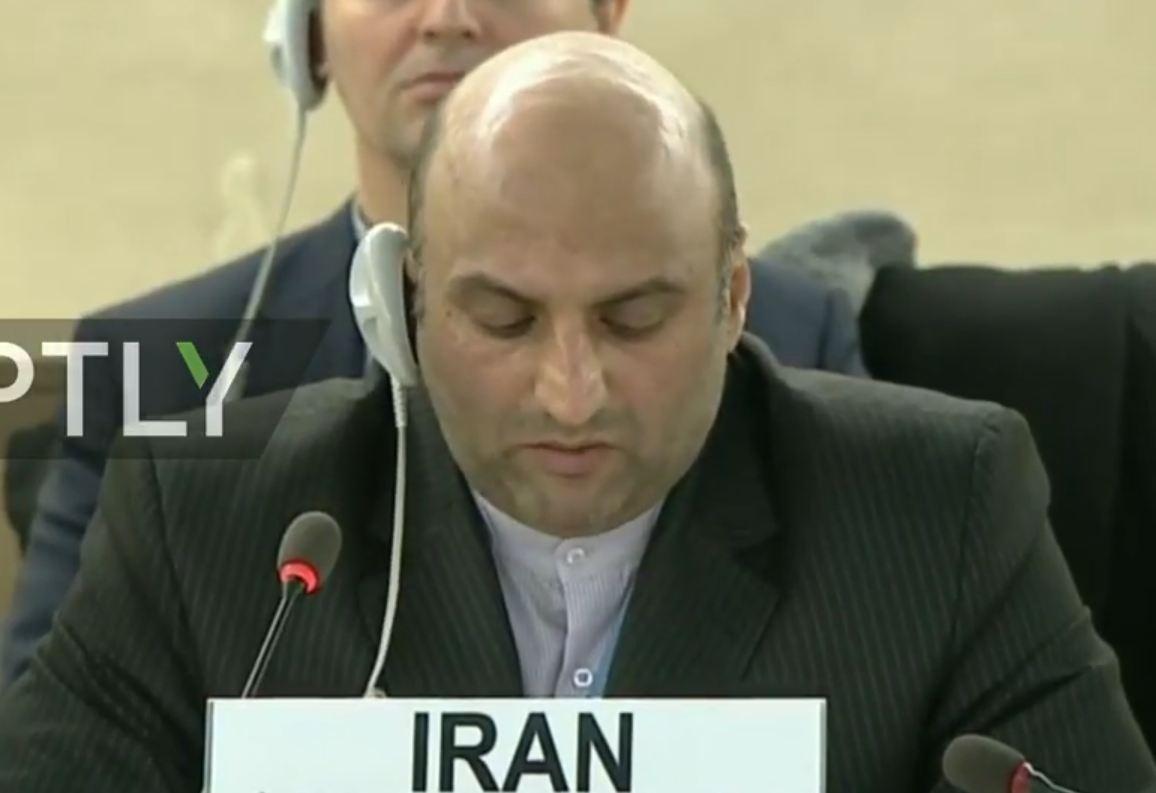 مندوب ايران في مجلس حقوق الانسان: الارهابيون يستخدمون المدنيين دروعا بشرية