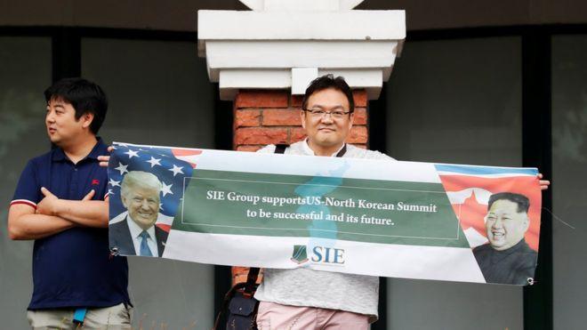بعض الصور من القمة التاريخية ما بين دونالد_ترامب و كيم جونغ اون في سنغافورة