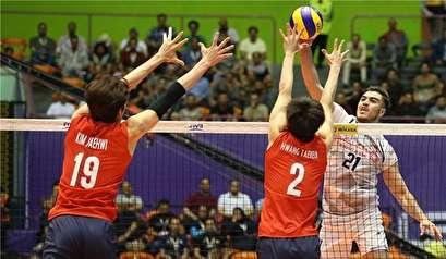 ایران تحرز فوزا ثمينا على كوريا الجنوبية في الدوري العالمي للكرة الطائرة