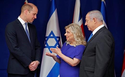 الأمير البريطانى وليام يجتمع مع رئيس وزراء إسرائيل فى القدس