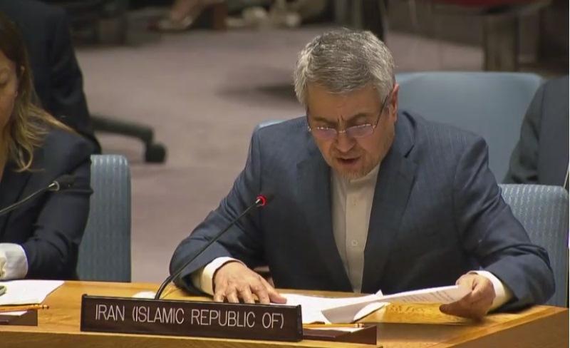 مندوب ايران بالامم المتحدة: اوقفوا قتل الاطفال الفلسطينيين واليمنيين