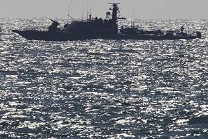 سلاح البحرية الإسرائيلي يعترض سفينة الحرية خلال محاولتها كسر الحصار على غزة