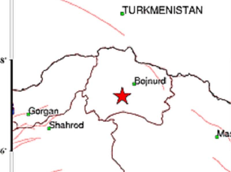 زلزال بقوة 4.9 درجات علي مقياس ريختر يضرب خراسان الشمالية
