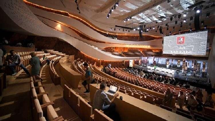 افتتاح مسرح ضخم جديد بالقرب من الكرملين في موسكو