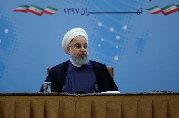 الرئيس روحاني: السيد ترامب! لاتلعب بالنار