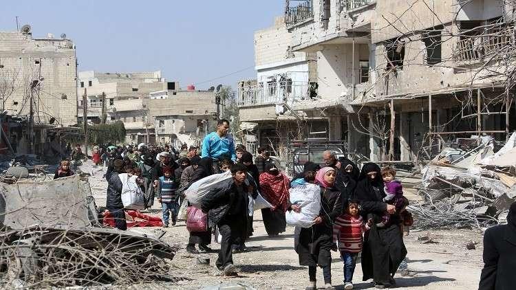 الدفاع الروسية: 100 ألف لاجئ عادوا إلى الغوطة الشرقية