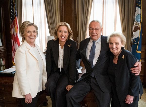 وزراء خارجية أمريكيون سابقون يظهرون بمسلسل مدام سكريترى (صورة)