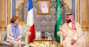 ولى العهد السعودى يستعرض العلاقات الثنائية مع وزيرة الدفاع الفرنسية