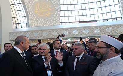 صور.. أردوغان يختتم زيارته لألمانيا بافتتاح مسجد فى كولونيا