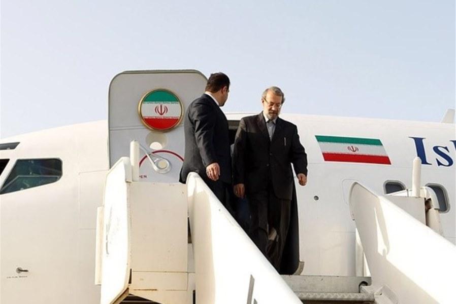 لاريجاني يصل الي بيلاروسيا قادما من روسيا