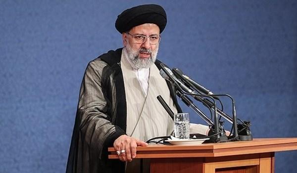 آیة الله رئیسي: امريكا متورطة في جميع الجرائم التي حصلت بالمنطقة