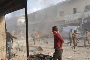 عشرات القتلى والجرحى بتفجير استهدف سوقا شعبية في تل أبيض شمال سوريا