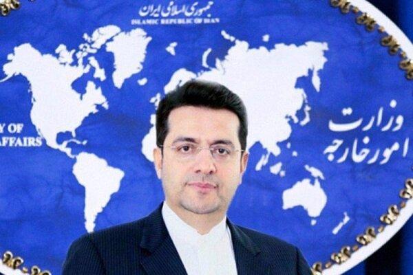 المتحدث باسم الخارجية الإيرانية: امريكا تسعى إلى تصعيد التوتر في إيران