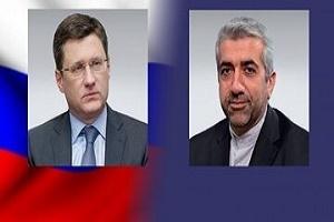 محادثات هاتفية بين وزيري الطاقة الايراني والروسي حول التعاون الاقتصادي