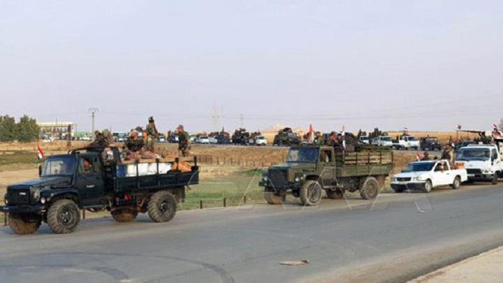 الجيش السوري يفتح طريق الحسكة –حلب الدولي ويسقط طائرة مسيرة للتكفيريين