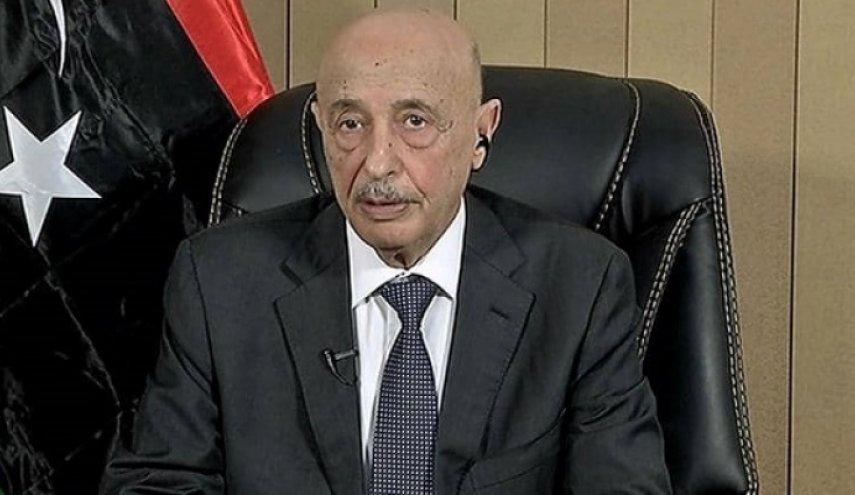 عقيلة صالح يطالب بسحب الاعتراف الأممي من حكومة السراج