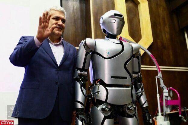 ازاحة الستار عن الروبوت الايراني الشبيه للانسان