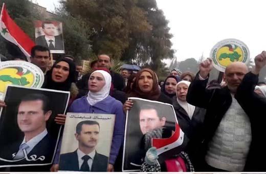 مواصلة احتجاجات اهالي دير الزور على الحضور الأمريكي في سوريا