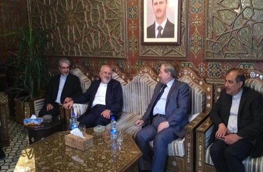 ظريف يصل الى العاصمة السورية دمشق