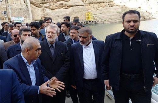 لاريجاني يصل خوزستان في جولة تفقدية لمناطق السيول