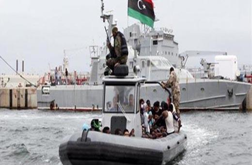 البحرية الليبية تعلن إنقاذ 147 مهاجرا غير شرعي قبالة سواحل البلاد