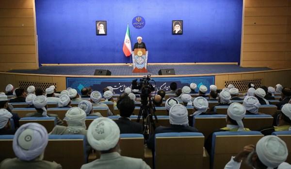 روحاني: ايران والشعب الايراني اكبر واعظم من ان تهدد