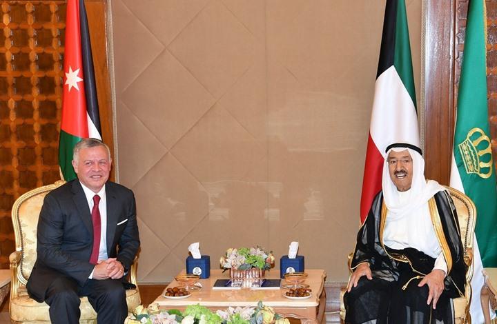 أمير الكويت وملك الأردن يبحثان المستجدات الإقليمية