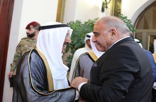 عادل عبد المهدي بحث مع أمير الكويت المستجدات الاقليمية والدولية