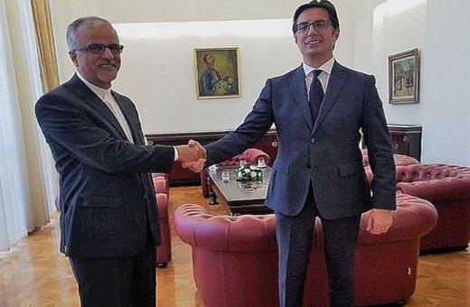رئيس مقدونيا الشمالية يؤكد اهتمام بلاده بالعلاقات مع ايران