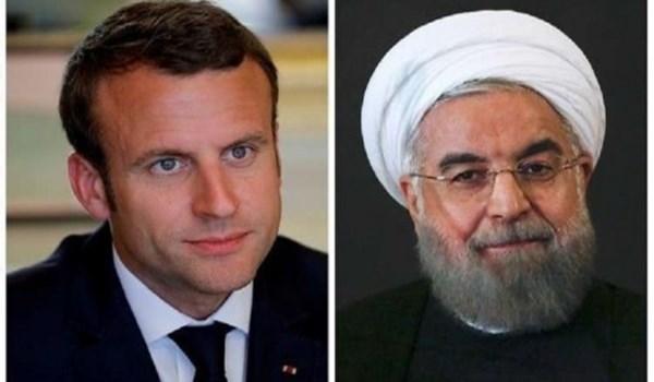 نتيجة بحث الصور عن روحاني لماكرون: على أوروبا ضمان مصالح إيران المشروعة