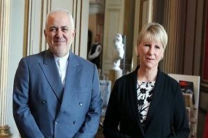 وزير الخارجية الايراني يلتقي نظيرته السويدية