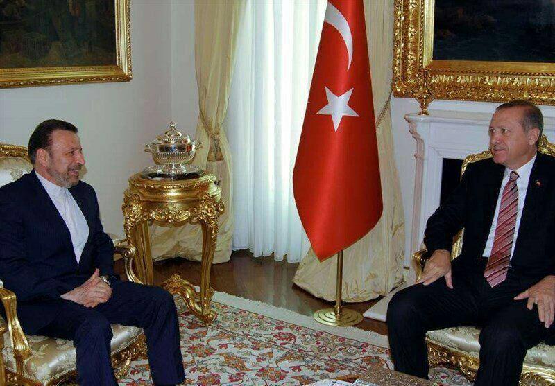 واعظي يبحث مع اردوغان سبل تعزيز العلاقات بين ايران وتركيا