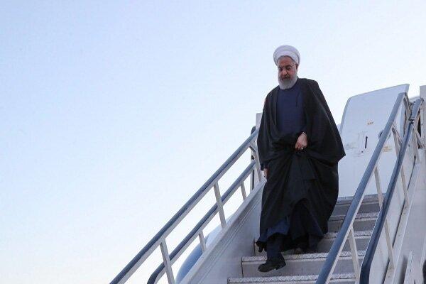وصول الرئيس روحاني إلى أنقرة لحضور القمة الثلاثية للزعماء الإيرانيين والروس والأتراك