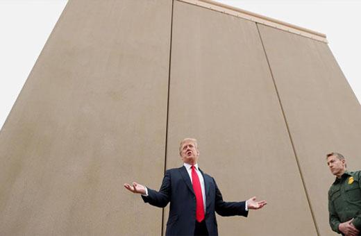 ترامب: الجدار الحدودي الجديد مع المكسيك معزز بتكنولوجيا 'التجسس'
