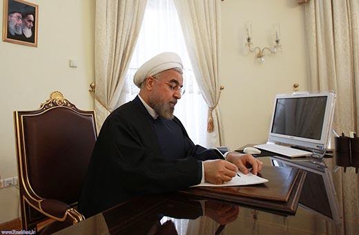 الرئيس روحاني يهنئ نظيره الكوري بمناسبة العيد الوطني