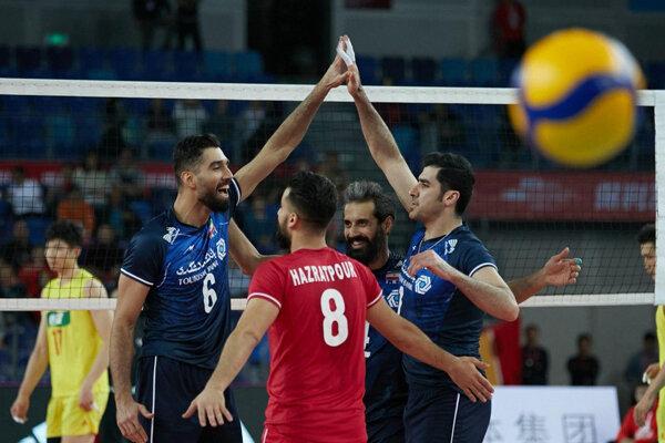ایران تفوز على الصين بالتصفيات الاولمبية لكرة الطائرة