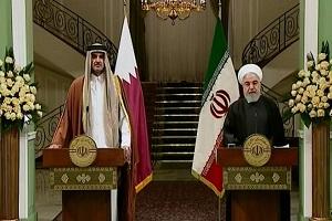 الرئيس روحاني : لدينا علاقات سياسية مميزة مع دولة قطر