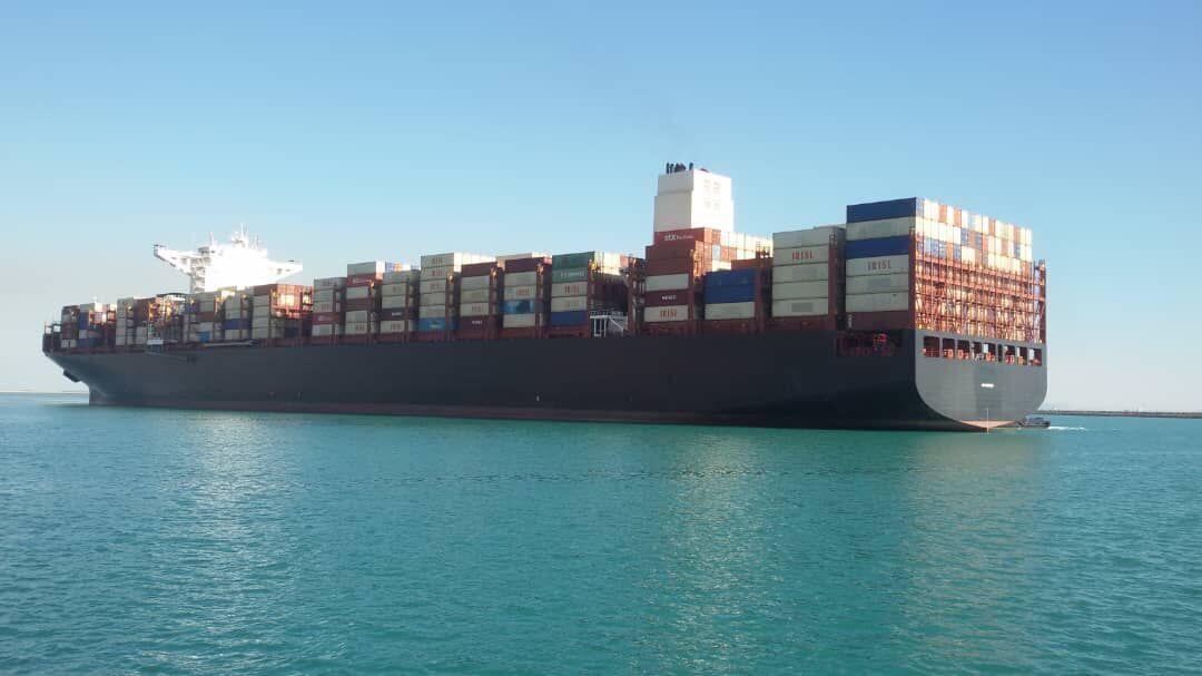 اكبر سفينة حاويات ايرانية ترسو في ميناء