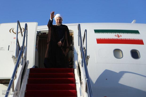 الرئيس روحاني يصل سيستان وبلوشستان لتفقد المناطق المتضررة بالسيول