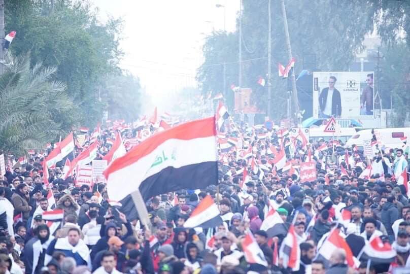 مئات الآلاف يتظاهرون فى بغداد للمطالبة برحيل القوات الأجنبية