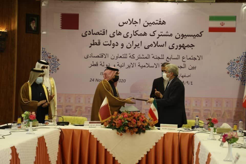 ايران وقطر توقعان على وثيقة للتعاون الاقتصادي بين البلدين
