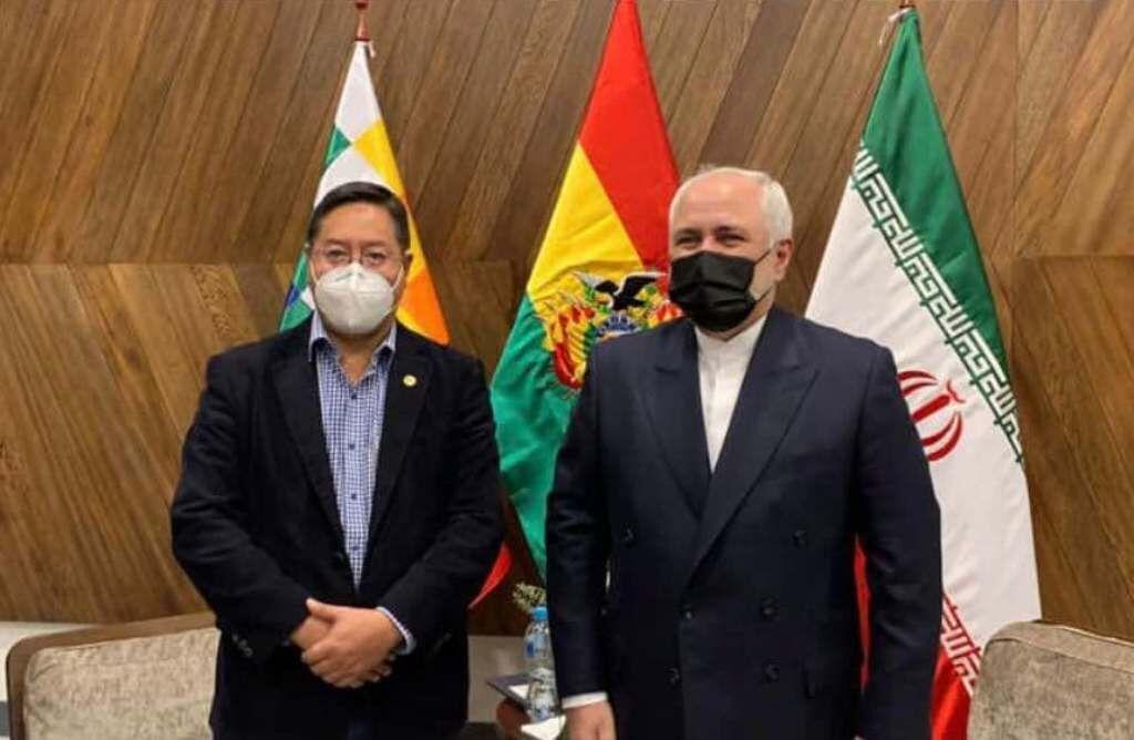 ظريف يبحث مع الرئيس البوليفي الجديد سبل تنمية العلاقات الثنائية