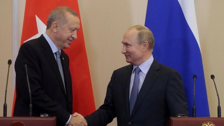 الكرملين: بوتين وأردوغان سيبحثان هاتفيا اليوم الوضع في سوريا