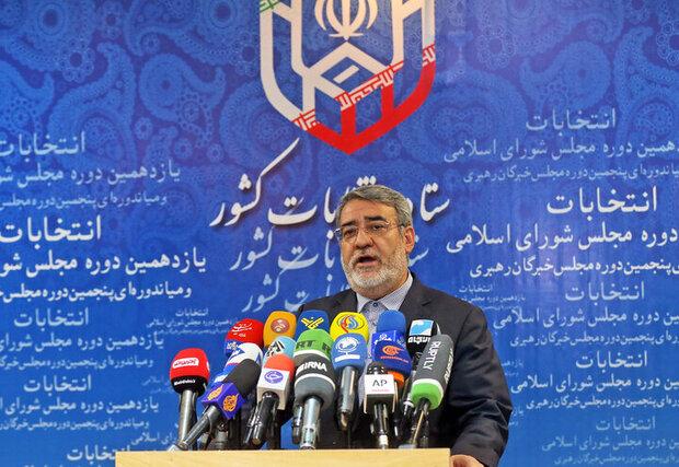 وزير الداخلية الايراني: لم نرصد الى الان مخالفات ملحوظة للمرشحين البرلمانيين