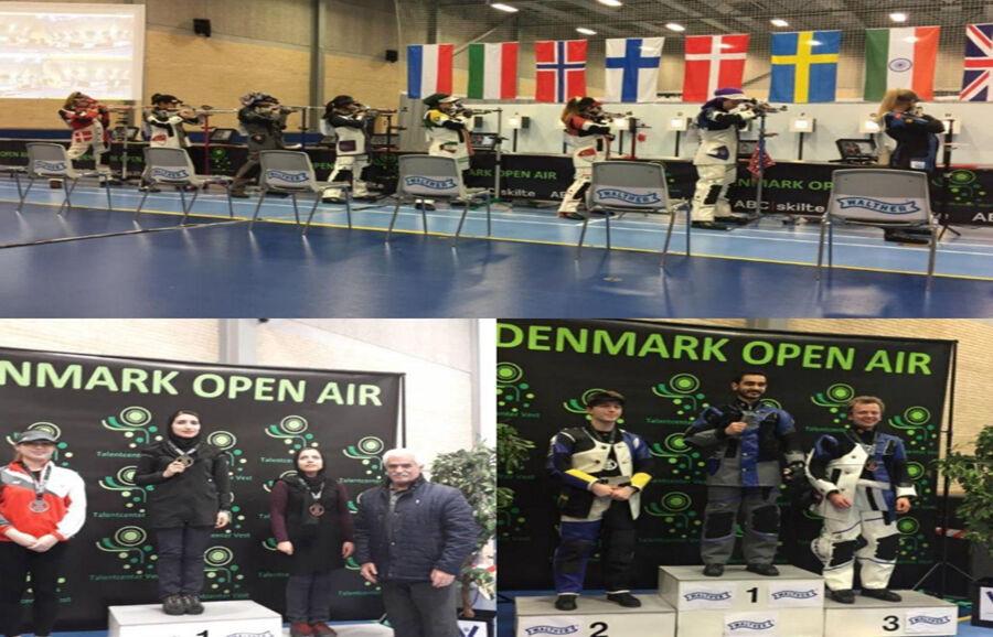 ایران تحرز ذهبيتين وبرونزية في مسابقات الرماية الدولية في الدنمارك