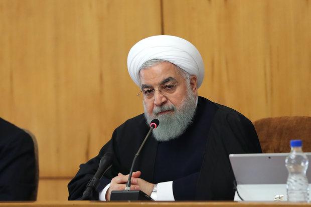 الرئيس روحاني: الحظر عمل إرهابي أمريكي ضد الشعب الإيراني