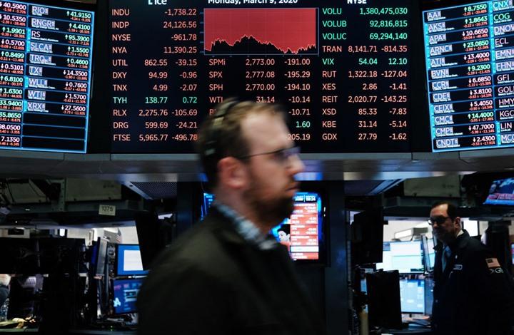 بورصة نيويورك تسجّل أسوأ خسارة لها على الإطلاق منذ 2008